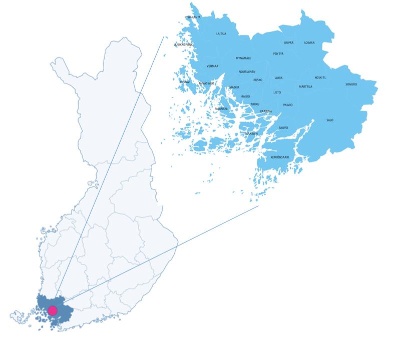 Varsinais-Suomen kartta